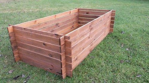 stabiler holzkomposter komposter kompostbeh lter impr gniert hochbeet 170 x 85cm ratgeber. Black Bedroom Furniture Sets. Home Design Ideas