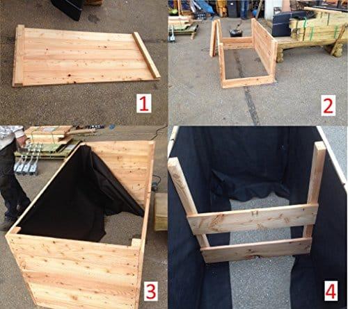 hochbeet aus l rchenholz 150 x 100 x 72 cm bretter 20 mm glatt kr uterbeet pflanzbeet l rche. Black Bedroom Furniture Sets. Home Design Ideas