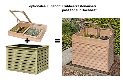 hochbeet kr uterbeet aus l rchenholz 125 x 85 x 80 cm von gartenpirat ratgeber hochbeet kaufen. Black Bedroom Furniture Sets. Home Design Ideas
