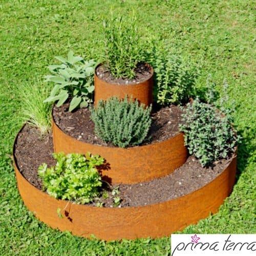 prima terra pflanzenpyramide edelrost pflanzringe kr uterpyramide beet baumringe 80cm. Black Bedroom Furniture Sets. Home Design Ideas