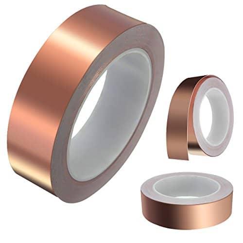 kapton tape king do way30mmx20m kupferband kupferfolie emi rfi abschirmband selbstklebend. Black Bedroom Furniture Sets. Home Design Ideas