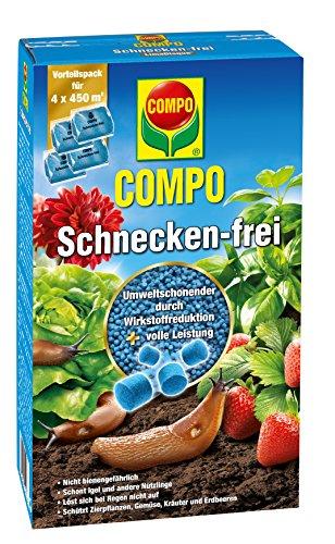 COMPO Schnecken-frei, Streugranulat, 4 x 225 g Vorteilspack