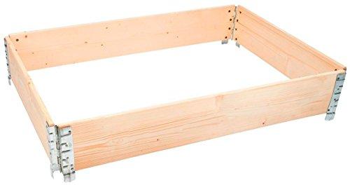 Hans Schourup 35903600 Holzaufsatzrahmen für Europalette für Lager, Logistik, Hochbeet, 1200 mm x 800 mm x 200 mm, Natur