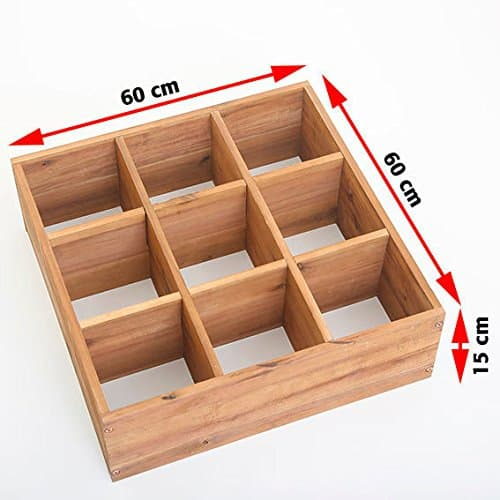 hochbeet f r kr uter mit 9 pflanzkammern akazie ratgeber hochbeet kaufen. Black Bedroom Furniture Sets. Home Design Ideas