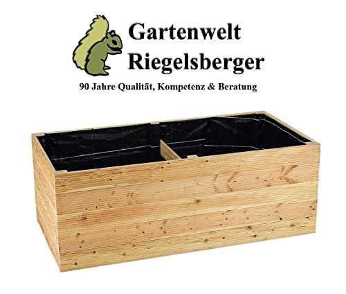 Hochbeet aus Lärchenholz 160 x 80 x H72 cm, Bretter 20 mm GLATT, Kräuterbeet, Pflanzbeet, Lärche, Gemüsebeet, ohne Boden, inkl. Vlies, Edelstahlschrauben und Nägel von Gartenwelt Riegelsberger