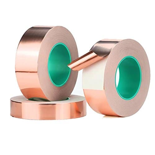 Kupfer Folie ableitfähige Klebeband, doppelseitig ableitfähige selbstklebend  gebeizt Glas, EMI Abschirmung, elektrische Reparaturen, Papier Stromkreise, Basteln.