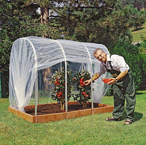 Juwel 20113 Tunnelfolie für Tomatenhaus (Hochbeet Profiline Gr. 2, ohne Reißverschluss), transparent