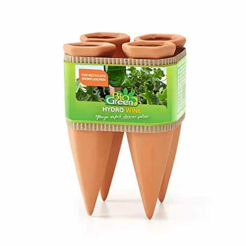 Bio Green Pflanzen Bewässerung Wine Tonkegel, terracotta/grün – für Wein Flaschen