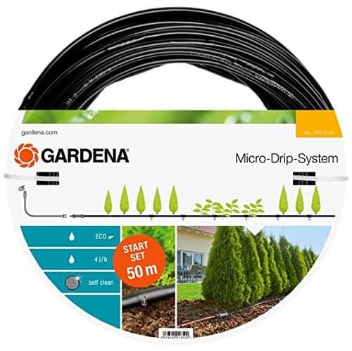 GARDENA Start Set Pflanzreihen L, Micro-Drip-Gartenbewässerungssystem zur schonenden, wassersparenden Bewässerung von Reihenpflanzungen, 13013-20