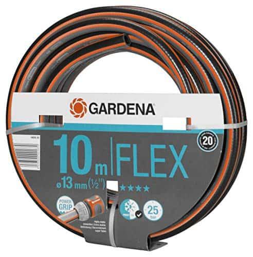 Gardena Comfort Flex Schlauch Formstabiler, Flexibler Gartenschlauch mit Power-Grip-Profil, aus hochwertigem Spiralgewebe, 25 bar Berstdruck, ohne Systemteile, 13 mm, 1/2 Zoll, 10 m
